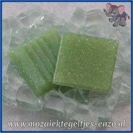 Glasmozaiek tegeltjes - Basic Line - 2 x 2 cm - Enkele Kleuren - per 20 steentjes - Spring Green A22