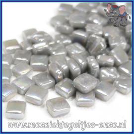 Glasmozaiek Pixel steentjes - Ottoman Parelmoer - 0,8 x 0,8 cm - Enkele Kleuren - per 50 gram - Mid Grey
