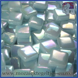 Glasmozaiek Pixel steentjes - Ottoman Parelmoer - 0,8 x 0,8 cm - Enkele Kleuren - per 50 gram - Pale Aqua