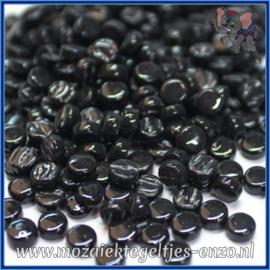 Glasmozaiek Pixel steentjes - Darling Dotz Normaal - 0,8 cm - Enkele Kleuren - per 50 gram - Opal Black