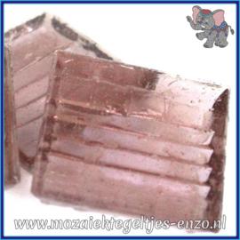 Glasmozaiek tegeltjes - Doorzichtig - 2 x 2 cm - Enkele Kleuren - per 20 steentjes - Mauve