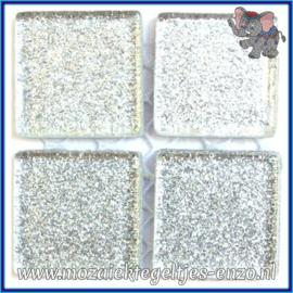 Glasmozaiek tegeltjes - Glitter - 2 x 2 cm - Enkele Kleuren - per 20 steentjes - Quick Silver