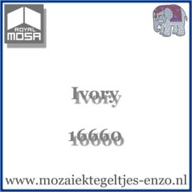 Binnen wandtegel Royal Mosa - Glanzend - 7,5 x 7,5 cm - Op maat gesneden - Ivory 16660