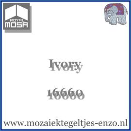 Binnen wandtegel Royal Mosa - Glanzend - 15 x 15 cm - per 1 stuk - Ivory 16660