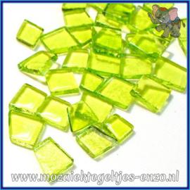 Glasmozaiek steentjes - Transparant Glass Puzzles Normaal - Enkele Kleuren - per 50 gram - Soca Green
