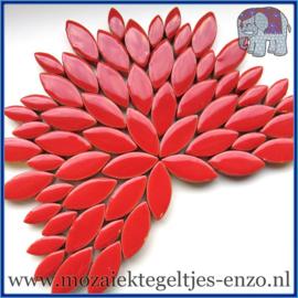 Keramische mozaiek steentjes - Petals Bloemblaadjes Normaal - 14 en 21 mm - Enkele Kleuren - per 50 gram - Red