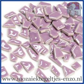 Keramische mozaiek steentjes - Keramiek Puzzel Stukjes Normaal - Enkele Kleuren - per 50 gram - Fresh Lilac