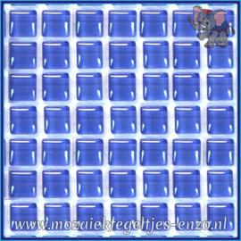 Glasmozaiek tegeltjes - Murrini Crystal - 1 x 1 cm - Enkele Kleuren - per 60 steentjes - Mini Sky Blue