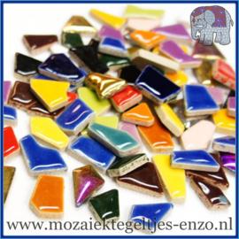 Keramische mozaiek steentjes - Keramiek Puzzel Stukjes Normaal - Gemixte Kleuren - per 50 gram - Mixed Colours