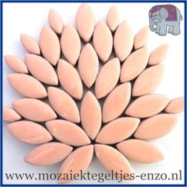 Keramische mozaiek steentjes - Petals Bloemblaadjes Normaal - 14 en 21 mm - Enkele Kleuren - per 50 gram - Fresh Peach