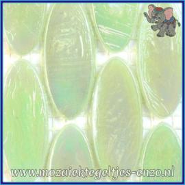 Glasmozaiek steentjes - Radiant Ellipse Parelmoer - 20 x 45 mm - Enkele Kleuren - per 1 stuk - Vanuatu