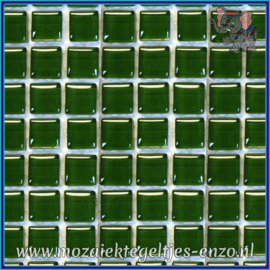 Glasmozaiek tegeltjes - Murrini Crystal - 1 x 1 cm - Enkele Kleuren - per 60 steentjes - Mini Magic Esmerald