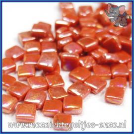 Glasmozaiek Pixel steentjes - Ottoman Parelmoer - 0,8 x 0,8 cm - Enkele Kleuren - per 50 gram - Chilly Pepper