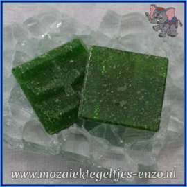Glasmozaiek tegeltjes - Basic Line - 2 x 2 cm - Enkele Kleuren - per 20 steentjes - Olive Green A26