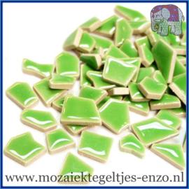 Keramische mozaiek steentjes - Keramiek Puzzel Stukjes Normaal - Enkele Kleuren - per 50 gram - Jade