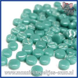 Glasmozaiek Pixel steentjes - Darling Dotz Normaal - 0,8 cm - Enkele Kleuren - per 50 gram - Teal