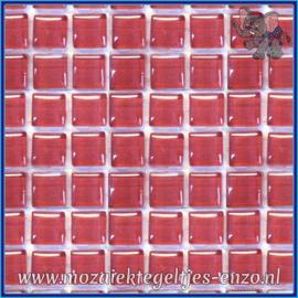Glasmozaiek tegeltjes - Murrini Crystal - 1 x 1 cm - Enkele Kleuren - per 60 steentjes - Mini Bright Pink