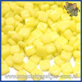 Glasmozaiek Pixel steentjes - Ottoman Normaal - 0,8 x 0,8 cm - Enkele Kleuren - per 50 gram - Daffodil Yellow