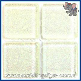 Glasmozaiek tegeltjes - Glitter - 2 x 2 cm - Enkele Kleuren - per 20 steentjes - Snowflake