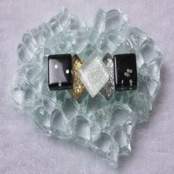 "- Glitter 1 x 1 cm -  Mini Ying-and-Yang-""S"""