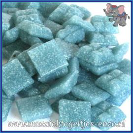 Glasmozaiek tegeltjes - Basic Line - 1 x 1 cm - Enkele Kleuren - per 60 steentjes - Mini Washed Denim A52
