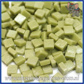 Glasmozaiek Pixel steentjes - Ottoman Matte - 0,8 x 0,8 cm - Enkele Kleuren - per 50 gram - Light Olive