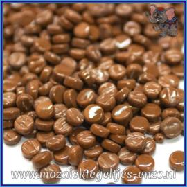 Glasmozaiek Pixel steentjes - Darling Dotz Normaal - 0,8 cm - Enkele Kleuren - per 50 gram - Coffee