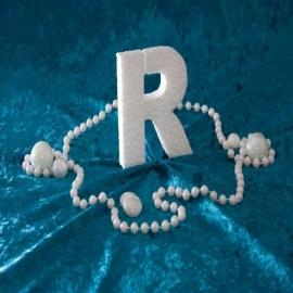 Piepschuim/Styropor - Letter R
