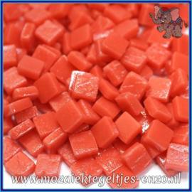 Glasmozaiek Pixel steentjes - Ottoman Matte - 0,8 x 0,8 cm - Enkele Kleuren - per 50 gram - Orange Red
