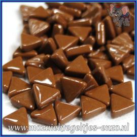 Glasmozaiek steentjes - Art Angles Normaal - 10 mm - Enkele Kleuren - per 50 gram - Coffee