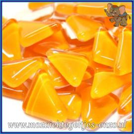 Glasmozaiek steentjes - Soft Glass Puzzles Normaal - Enkele Kleuren - per 50 gram - Tangerine