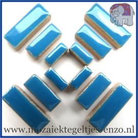Keramische mozaiek steentjes - Keramiek Rectangles Rechthoekjes Normaal - 4, 6 en 10 mm - Enkele Kleuren - per 50 gram - Thalo Blue