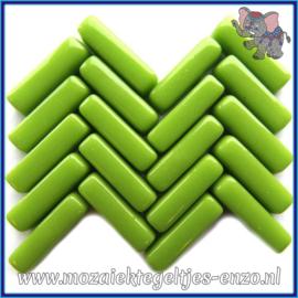 Glasmozaiek steentjes - Stix Rechthoekjes Staafjes Normaal - 6 x 20 mm - Enkele Kleuren - per 50 gram - Vivid Lime