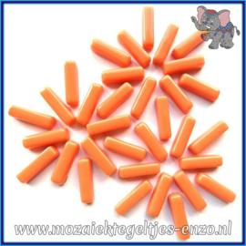 Glasmozaiek steentjes - Stix Rechthoekjes Staafjes Normaal - 6 x 20 mm - Enkele Kleuren - per 50 gram - Vintage Peach