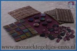 Mozaiek Kleur Pakket  Parelmoer - Paars