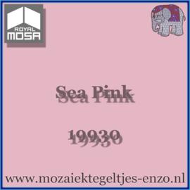 Binnen wandtegel Royal Mosa - Glanzend - 7,5 x 7,5 cm - Op maat gesneden - Sea Pink 19930