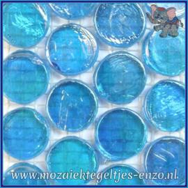 Glasmozaiek steentjes - Radiant Round Parelmoer - 18 mm - Enkele Kleuren - per 1 stuk - Maldives