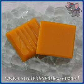 Glasmozaiek tegeltjes - Basic Line - 2 x 2 cm - Enkele Kleuren - per 20 steentjes - Sun Yellow A92