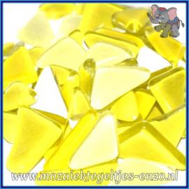 Glasmozaiek steentjes - Soft Glass Puzzles Normaal - Gemixte Kleuren - per 50 gram - Yellow Narcissus