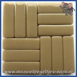 Glasmozaiek steentjes - Stix Rechthoekjes Staafjes XL Normaal - 12 x 38 mm - Enkele Kleuren - per 50 gram - Khaki Grey