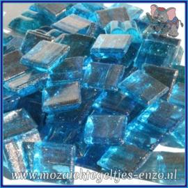 Glasmozaiek tegeltjes - Gold Line - 1 x 1 cm - Enkele Kleuren - per 60 steentjes - Mini Reef Jewel