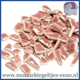 Keramische mozaiek steentjes - Keramiek Puzzel Stukjes Normaal - Enkele Kleuren - per 50 gram - Dusty Pink