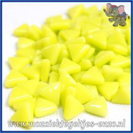 Glasmozaiek steentjes - Art Angles Normaal - 10 mm - Enkele Kleuren - per 50 gram - Yellow Green