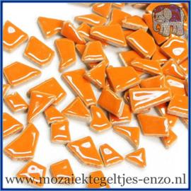 Keramische mozaiek steentjes - Keramiek Puzzel Stukjes Normaal - Enkele Kleuren - per 50 gram - Orange