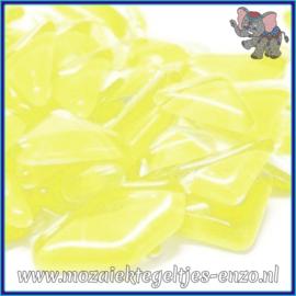 Glasmozaiek steentjes - Soft Glass Puzzles Normaal - Enkele Kleuren - per 50 gram - Sugared Lemon