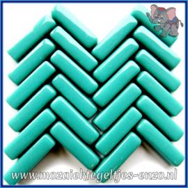 Glasmozaiek steentjes - Stix Rechthoekjes Staafjes Normaal - 6 x 20 mm - Enkele Kleuren - per 50 gram - Gentle Teal