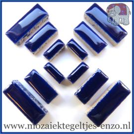 Keramische mozaiek steentjes - Keramiek Rectangles Rechthoekjes Normaal - 4, 6 en 10 mm - Enkele Kleuren - per 50 gram - Indigo