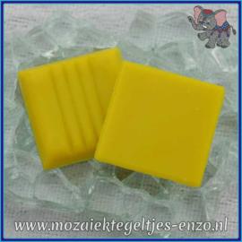 Glasmozaiek tegeltjes - Basic Line - 2 x 2 cm - Enkele Kleuren - per 20 steentjes - Bright Yellow A90