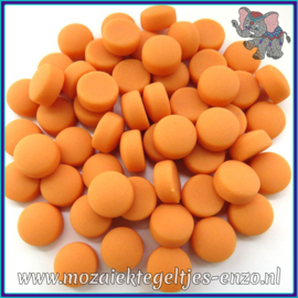 Glasmozaiek steentjes - Optic Drops Matte - 12 mm - Enkele Kleuren - per 50 gram - Orange