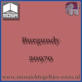 Binnen wandtegel Royal Mosa - Glanzend - 7,5 x 7,5 cm - Op maat gesneden - Burgundy 20970